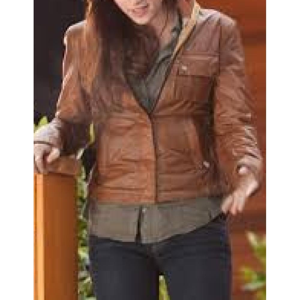 Kristen Stewart Bella swan Brown Jacket | Distressed Jackets