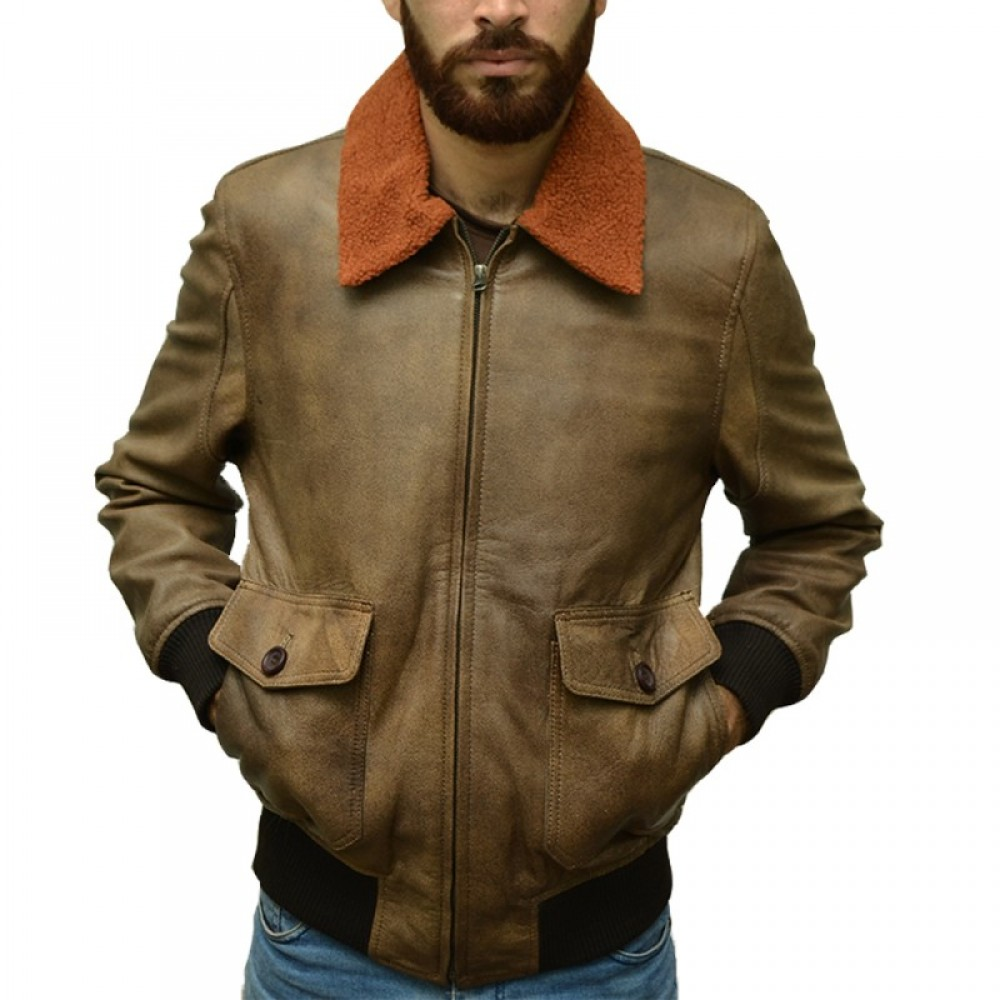 Distressed Brown 2 Leather Jacket