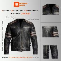 Vintage Motorcycle Distressed Black | Ultimo Jackets