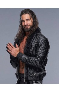 WWE Seth Rollins Black Leather Jacket For Sale