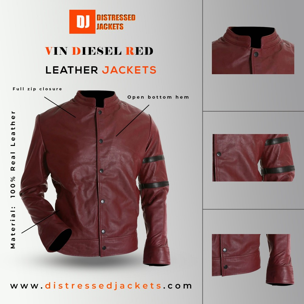 Fast and the Furious Dominic Toretto Jacket | Vin Diesel Red Jacket