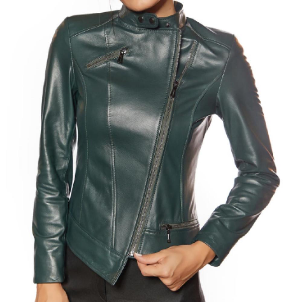 Francesca Green Genuine Women Leather Jacket