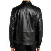 Jake Black Men's Classic Leather Jacket