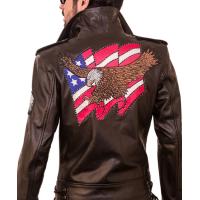 American Lafferty Black Biker Men's Leather Jacket