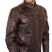 James Classic Brown Mens Biker Jacket