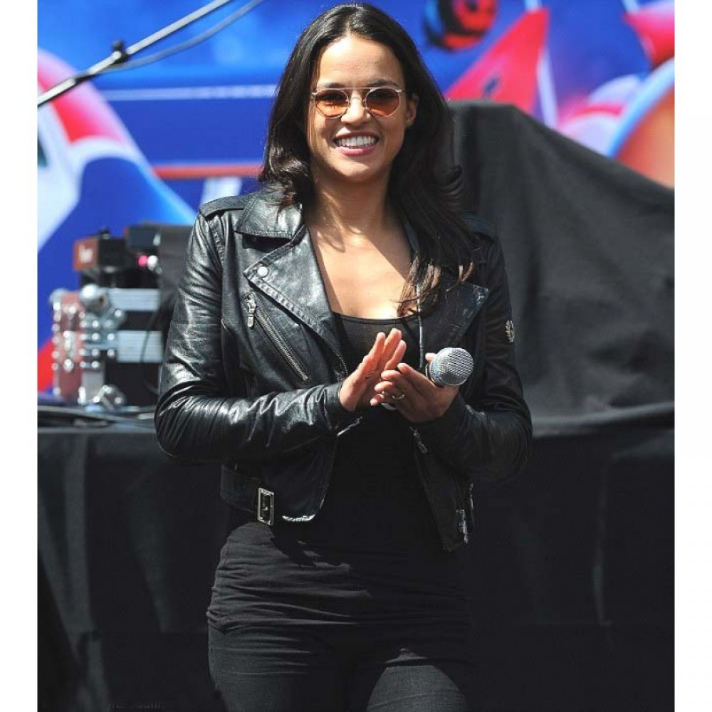 Fast and Furious 7 Trailer Michelle Rodriguez Jacket | Black Celeb Jacket