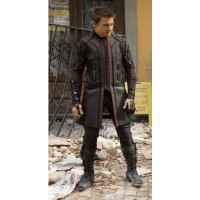 Hawkeye Leather Coat Avengers Age of Ultron  | Men's Leather Coat