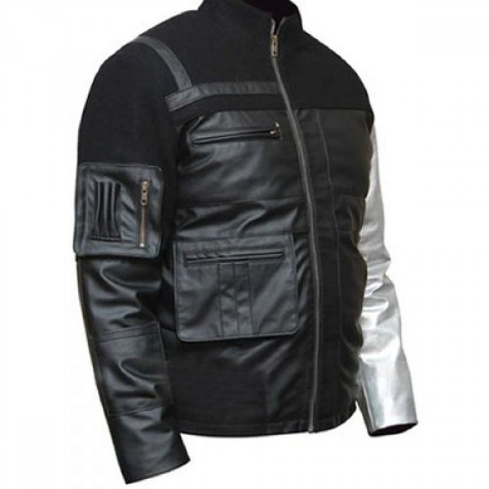 CAPTAIN AMERICA BUCKY BARNES WINTER SOLDIER BLACK LEATHER JACKET