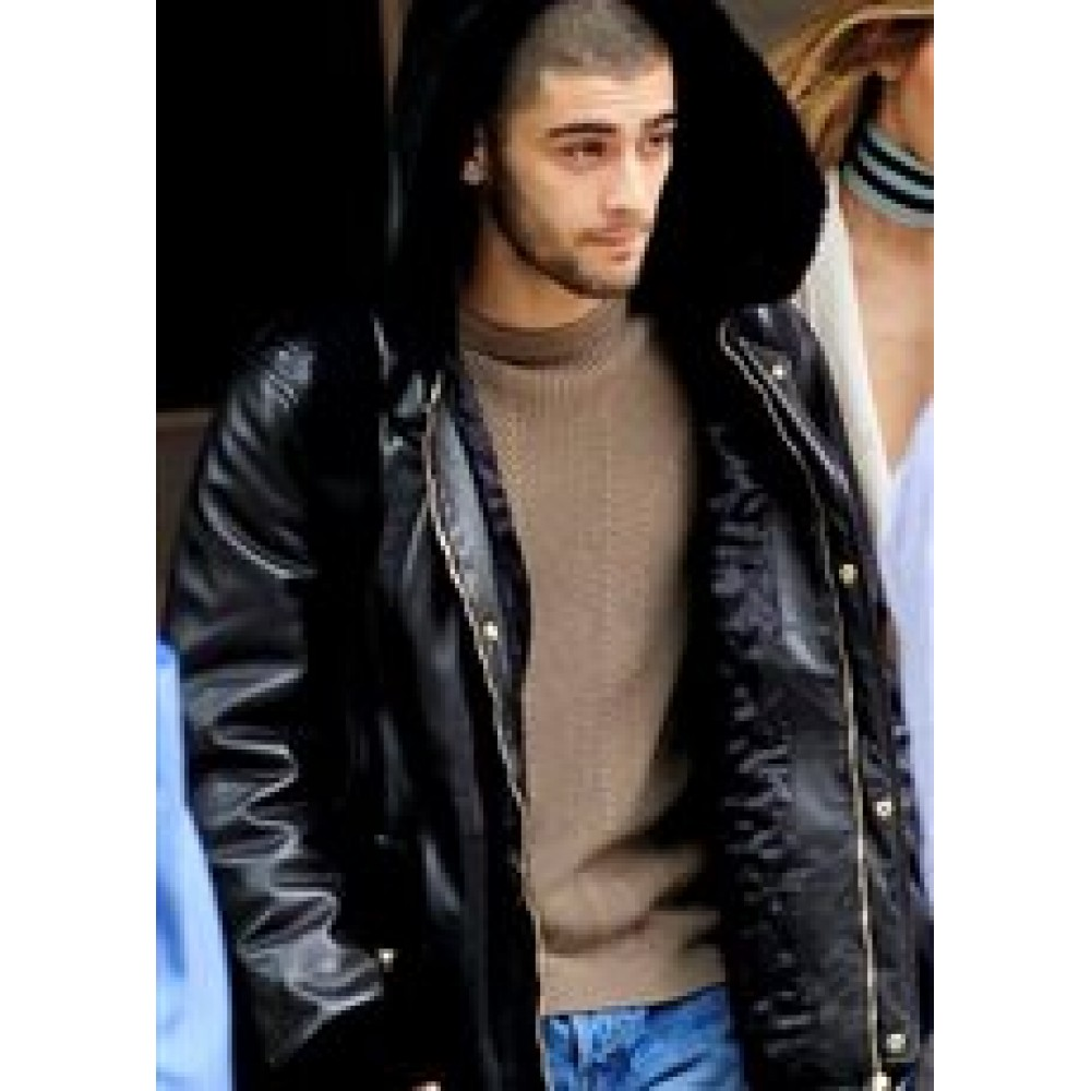 Zayn Malik Leather Jacket with Hood