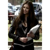 Elena Gilbert Vampire Diaries Black Jacket | Women Celeb Jackets