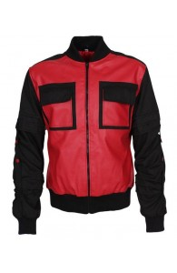 Back to the future red and black leather jacket | Red & Black Jacket