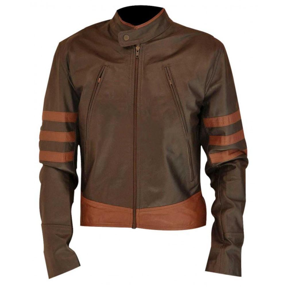 X-Men Movie: Wolverine Jacket | Dark Brown Leather Jacket