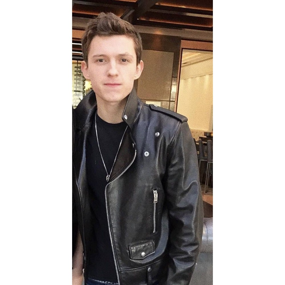 Tom Holland Chaos Walking Movie Leather Jacket
