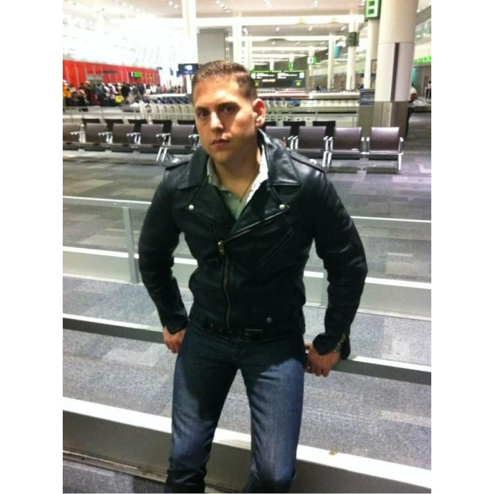 jonah hill how to train your dragon movie leather jacket