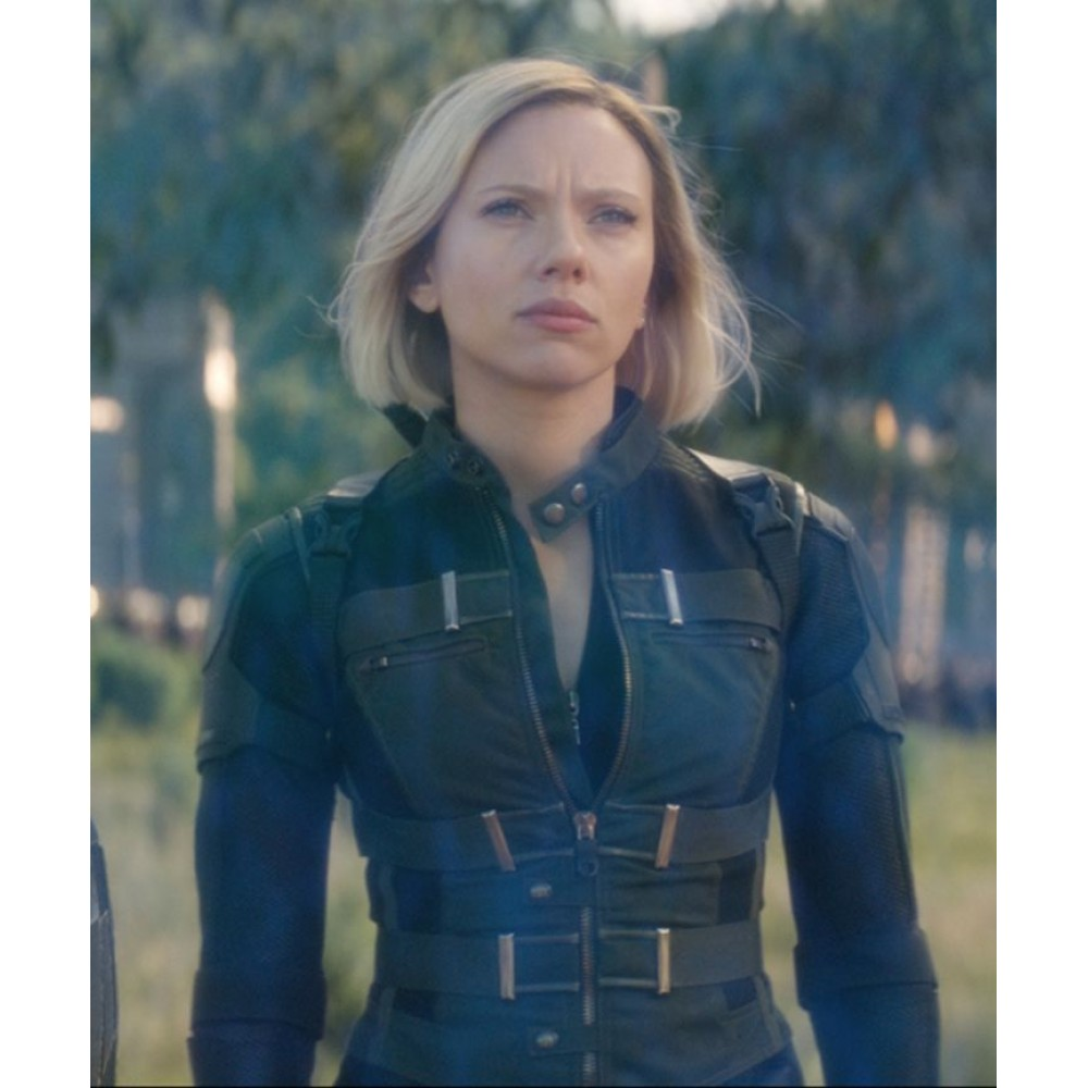 black widow avengers endgame movie cotton jacket