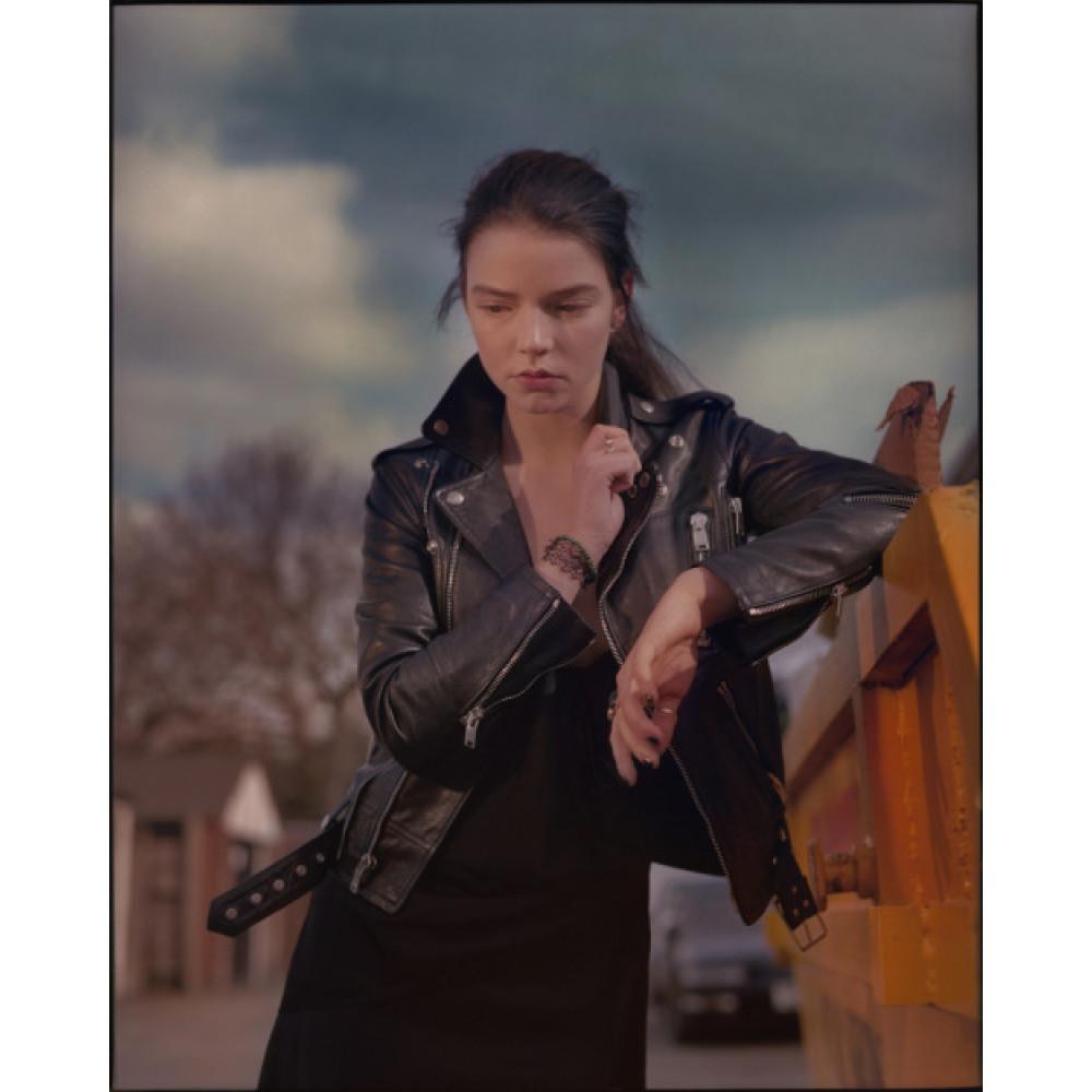 anya taylor-joy glass movie leather jacket
