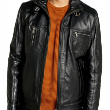 Mens Distressed Leather Super Sport Motorcycle Jackets