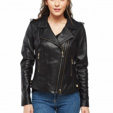Women's Distressed Leather Motorcycle Jackets