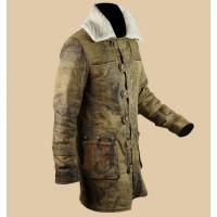 The Dark Knight Rises Bane Fur Coat | Tom Hardy Distressed Coat