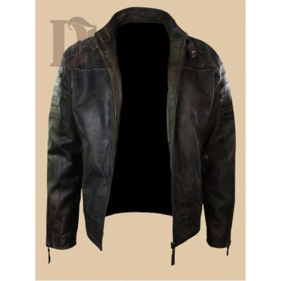 Men's Vintage Distressed Biker Jacket | Distressed Leather Jackets