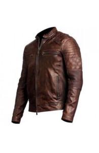 Men's Cafe Racer Distressed Brown Leather Jacket | Distressed Jackets
