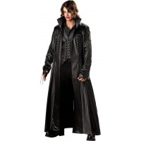 Baron Von Bloodshed Vampire Trench Coat | Black Leather Coat