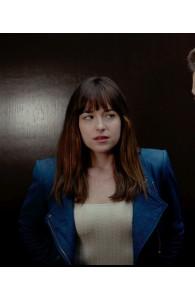 Fifty Shades of Grey Dakota Johnson Jacket | Women Blue Jackets