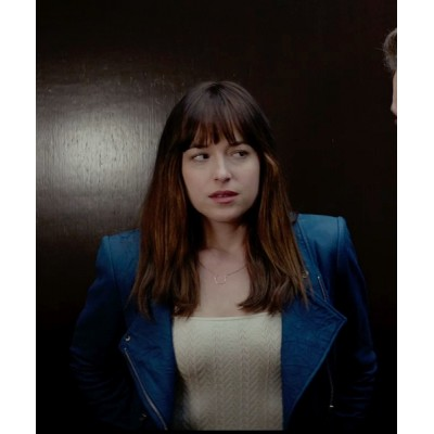Fifty Shades of Grey Dakota Johnson Jacket | Women Blue Jackets