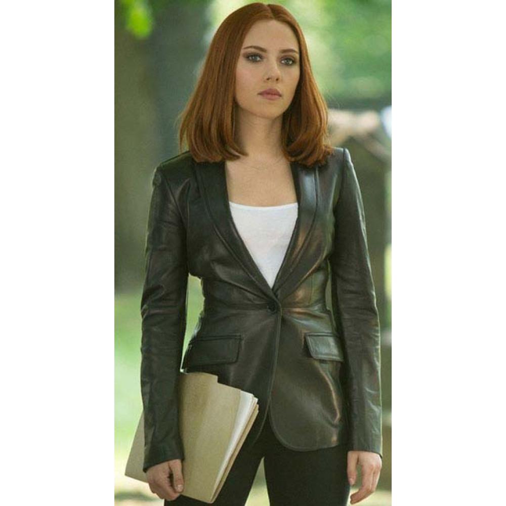 Trendy Captain America Natasha Romanof Jacket