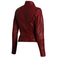 Andrew Marc Wynter Asymmetrical Jacket   Women Maroon Jacket