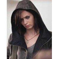 Arthur Newman Emily Blunt Hooded Jacket | Distressed Jackets
