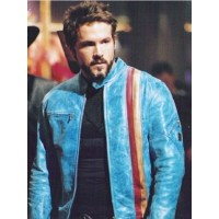 2004 Movie Blade Trinity Ryan Reynolds Blue Outfit Leather jackets For Sale