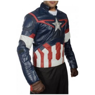 Age of Ultron Captain America New Leather Jacket | Avengers Leather Jackets