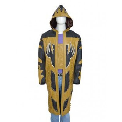 Gold Dust Vest Mens Leather Jacket | WWE Long Coat