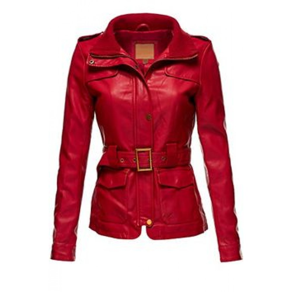 Women's Sexy Leather jacket | Women Red Jacket