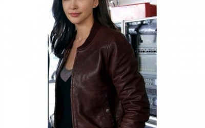 BINGBING LI MEG MOVIE SUYIN LEATHER JACKET FOR WOMENS FOR SALE