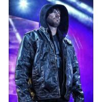 AJ Style WWE Leather Jacket | Mens Black WWE Leather jacket
