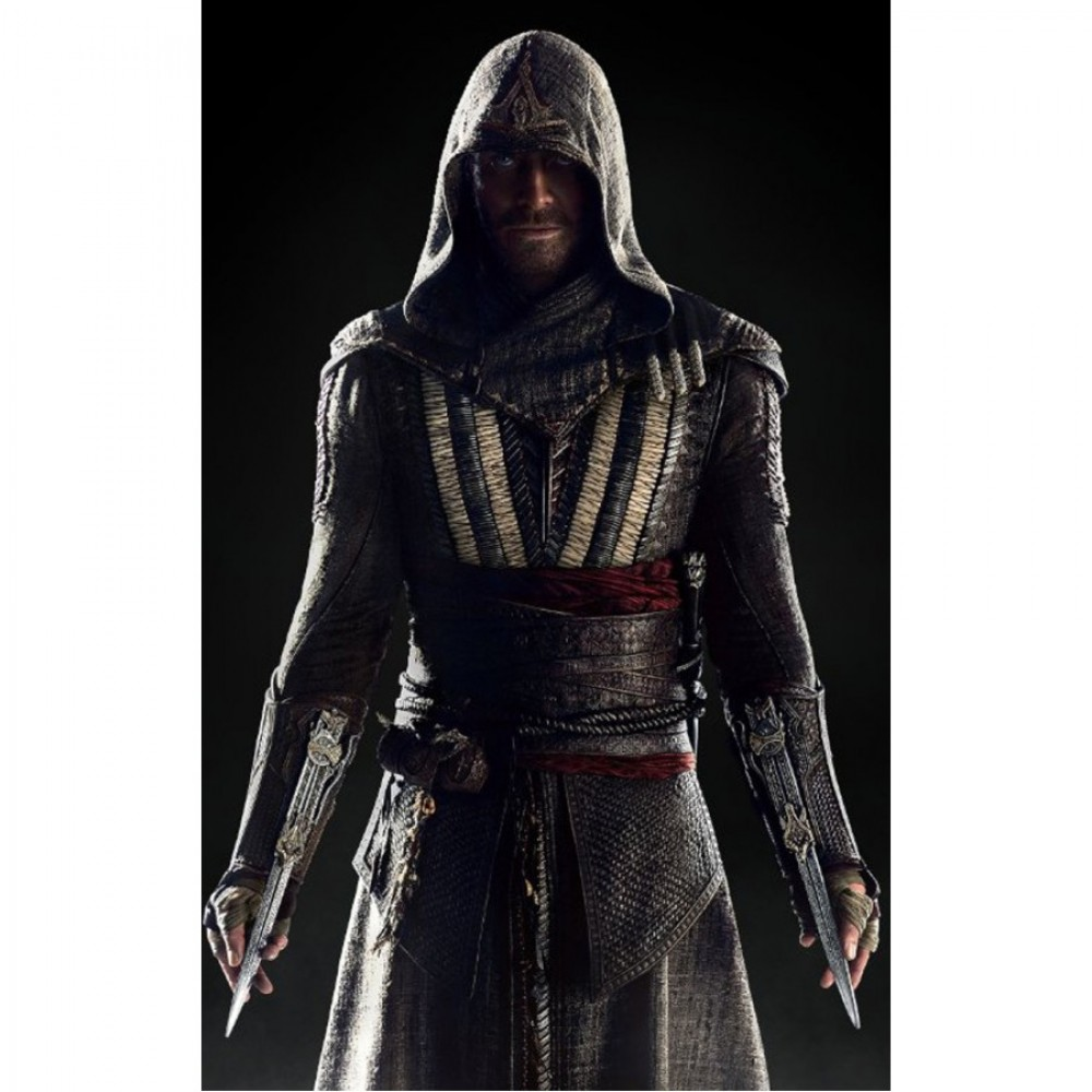 Assassin's Creed Movie Callum Lynch  Aguilar Leather Jacket For sale