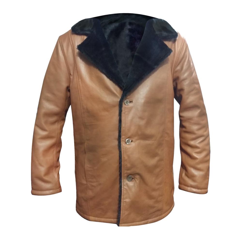 Distressed Mens New Cream Colour Coat With Fuax Fur | Mens Trench Coat
