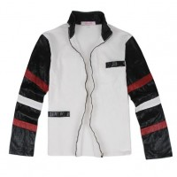 Bruce Lee White Casual Leather Jacket   Celeb Leather Jacket