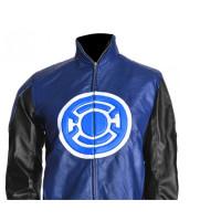 Allen Blackest Night Blue Lantern Leather Jacket For Sale | Hot Sale