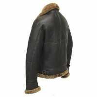 B3 ginger Distressed leather jacket for mens for sale