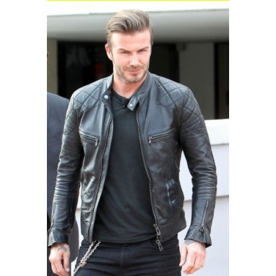 David Beckham Black Leather jackets |Distressed Black jackets