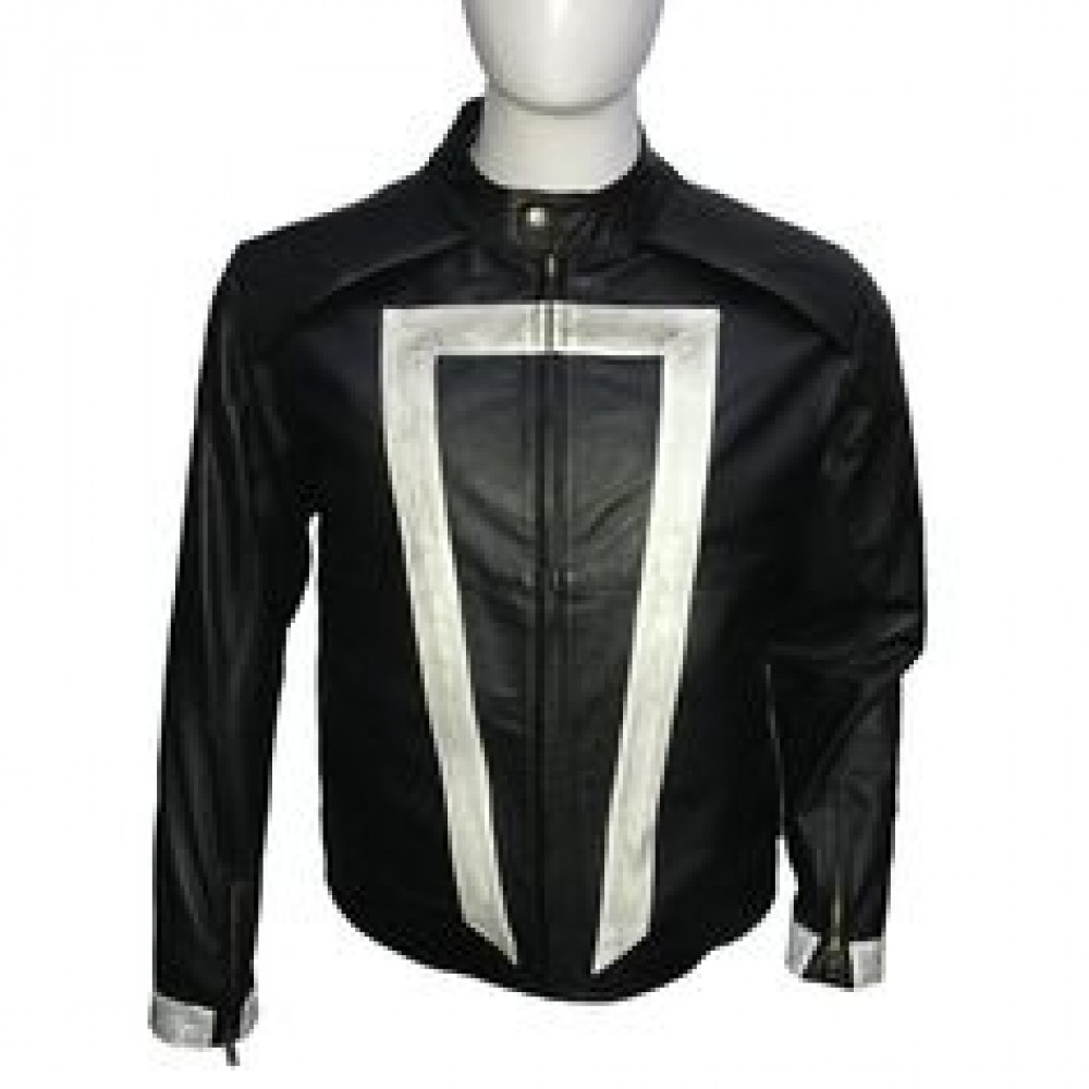 Ghost Rider Black Leather Jacket For sale | Black Biker Jacket