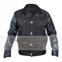 Shining Black Leather Jacket For Bikers | Men's Leather Jacket