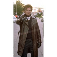 Jimmy Markum Long Black Leather Coat | Black Long Coats