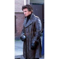 Jimmy Markum Long Black Leather Coat   Black Long Coats