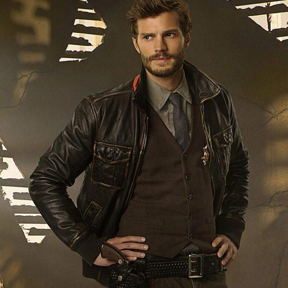 Once Upon A Time Sheriff Graham Leather Jacket | Black Distressed Jackets