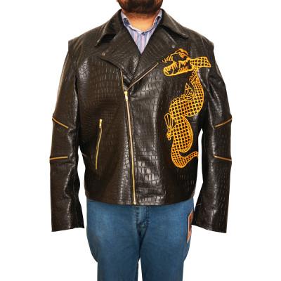 Adewale Killer Croc Squad Suicide Dragon Black Leather Jacket