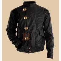 Akira Kaneda Pill Red & Black Motorcycle Leather Jacket | Red Biker Jackets